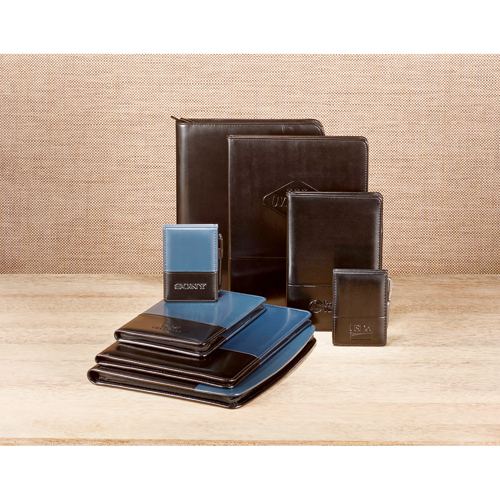 Picture of Windsor Reflections Zippered Padfolio, Promotional Logo Reflections Zippered Padfolios