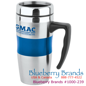 Picture of 16 oz Stainless / Acrylic Big Grip Mug with Stainless Lid