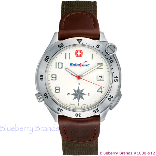 Picture of Wenger Mens Brown Compass Watch