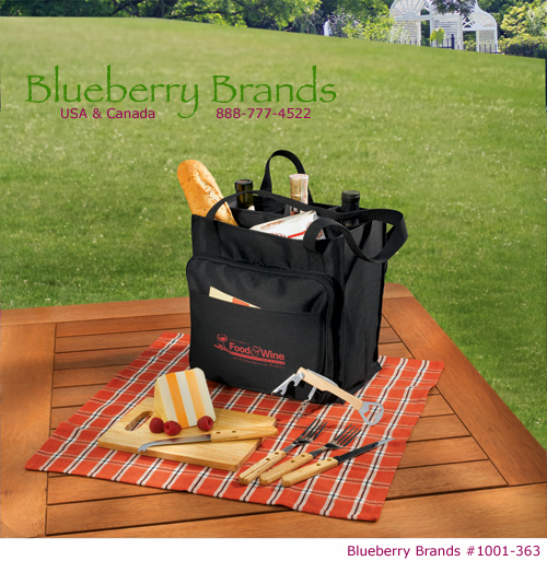 Picture of Modesto Picnic Carrier Set, Promotional Logo Modesto Picnic Carrier Set