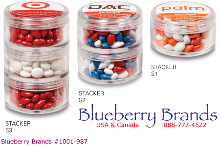 Picture of Triple Stacker, Promotional Logo Triple Stacker Candy Packer