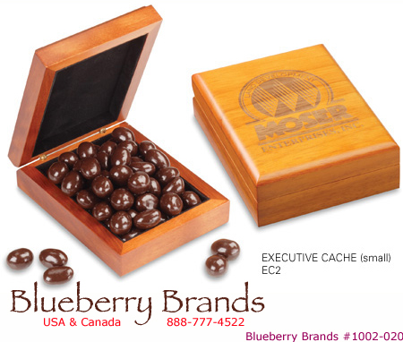Picture of Candy Filled Engraved Wooden Box