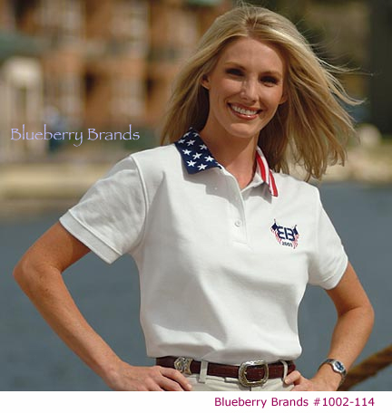 Picture of Ladies' Patriotic Sport Shirt, Embroidered Ladies' Patriotic Sport Shirt