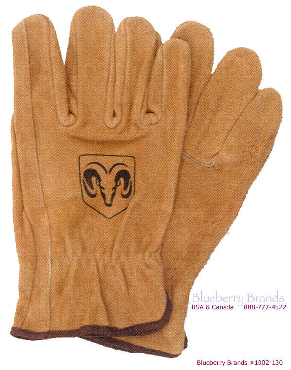 Picture of Unlined Split Cowhide Gloves, Promotional Logo Unlined Split Cowhide Work Gloves