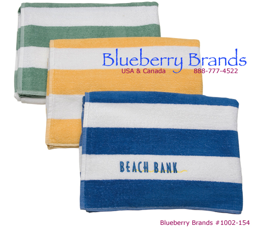 Picture of Mid-Weight Traditional Cabana Stripe Pool Towel