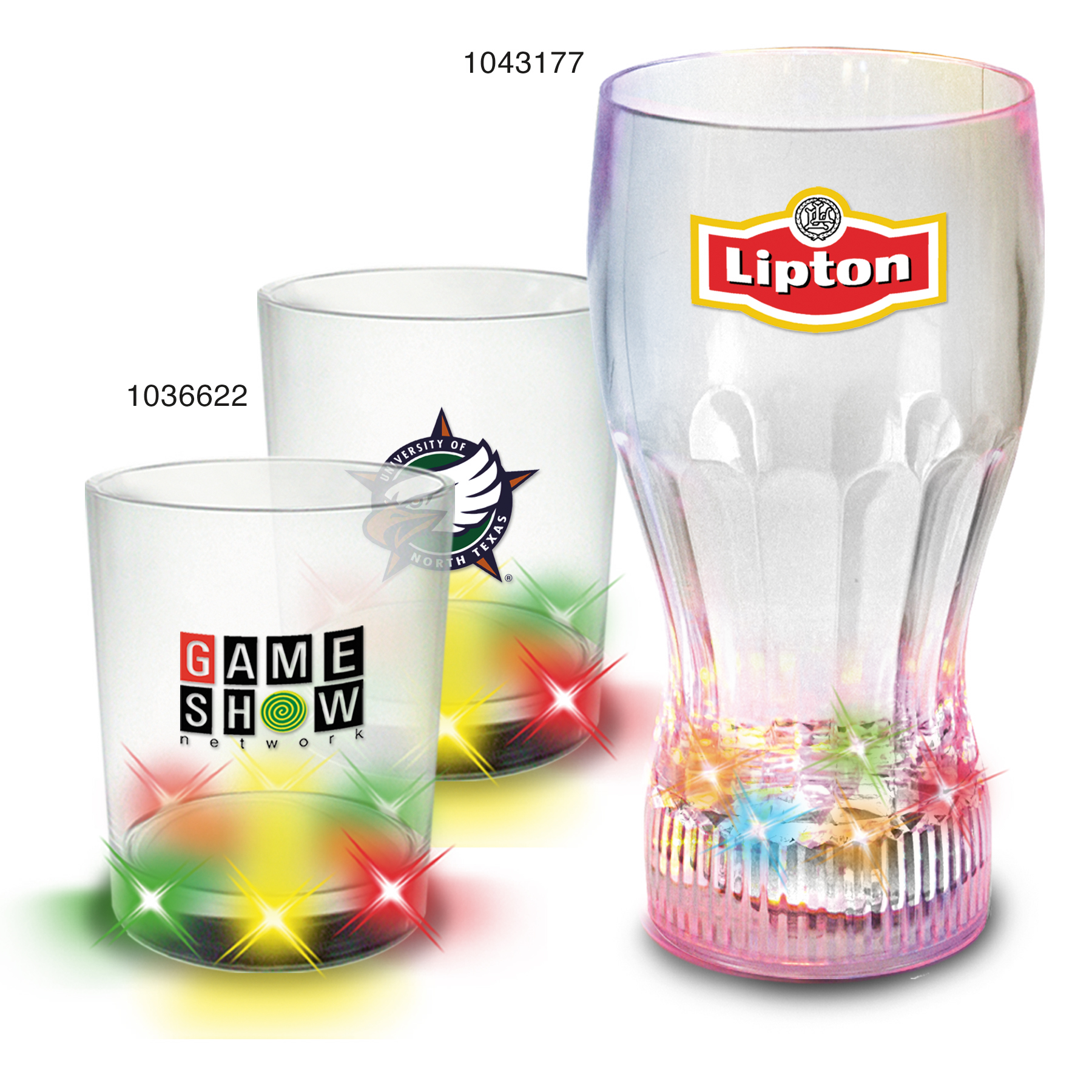 Picture of Light Up Multicolor Glassware, Promotional Logo Light Up Multicolor Glassware