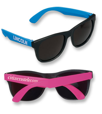 Picture of Neon Rubber Sunglasses, Promotional Logo Neon Rubber Sunglasses
