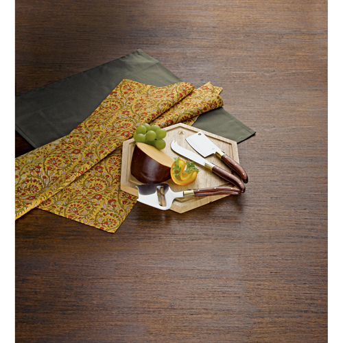 Picture of Laguiole Cheese Board with Knives, Promotional Logo Laguiole Cheese Board with Knives