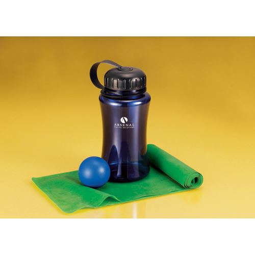 Picture of StayFit Time Out Bottle & Exercise Set, Promotional Logo StayFit Time Out Bottle & Exercise Set