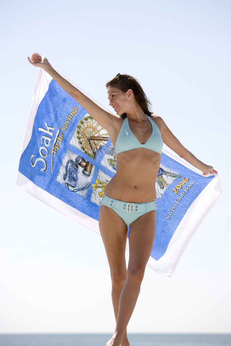 "Picture of Basic Weight 30"" x 60"" Beach Towel, Promotional Logo Basic Weight 30"" x 60"" Beach Towel"