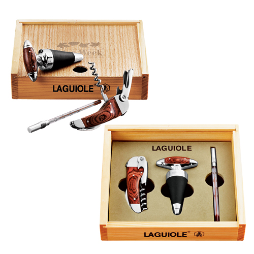 Picture of Laguiole Trios 3-piece Wine Set, Promotional Logo Laguiole Trios 3-piece Wine Set