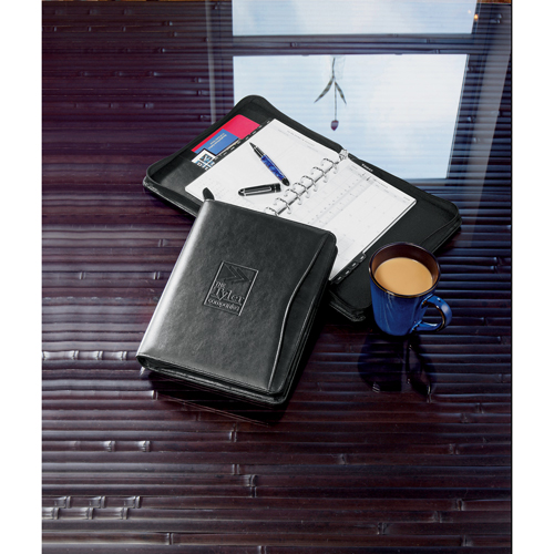 Picture of Day-Timer Kingston Zippered Desk Planner, Promotional Logo Kingston Zippered Desk Planner