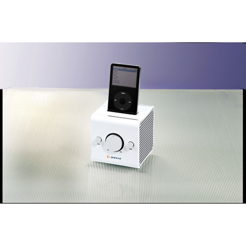 Picture of iCube with Universal Dock for iPod, Promotional Logo iCube