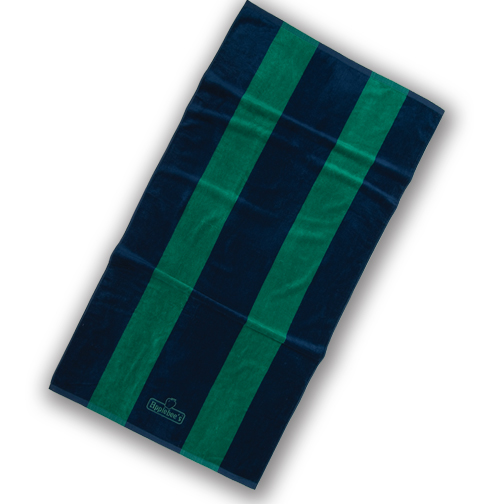 Picture of Rugby Striped Towel, Promotional Logo Rugby Striped Towel