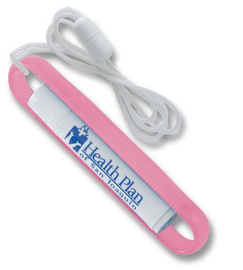 Picture of Lip Balm Caddy™ with Lanyard, Promotional Logo Lip Balm Caddy™ with Lanyard