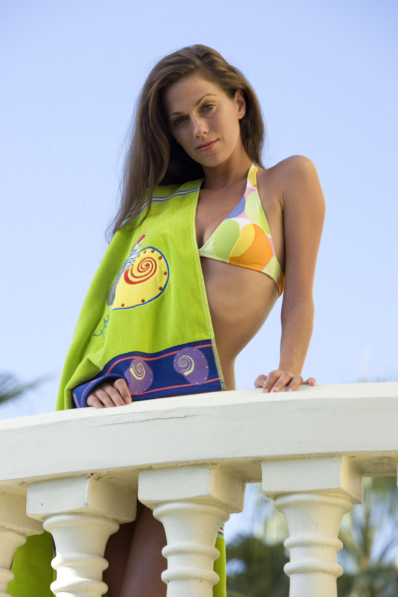 Picture of Jacquard Beach Towel with Icons, Promotional Logo Jacquard Beach Towel with Icons
