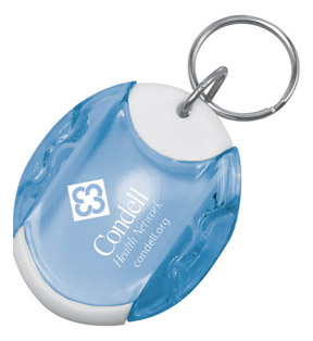 Picture of Pill Dispenser Keytag, Promotional Logo Pill Dispenser Keytag
