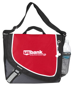 Picture of A Step Ahead Messenger Bag, Promotional Logo A Step Ahead Messenger Bag