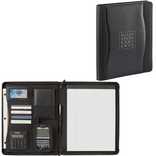 Picture of Wave Zippered Padfolio