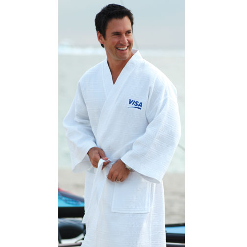 Picture of Italian Waffle Weave Robe, Promotional Logo Italian Waffle Weave Robes