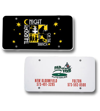 Picture of License Plate Insert