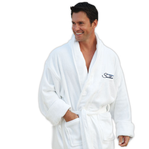 Picture of Heavyweight Shawl Collar Robe, Custom Embroidered Shawl Collar Robes