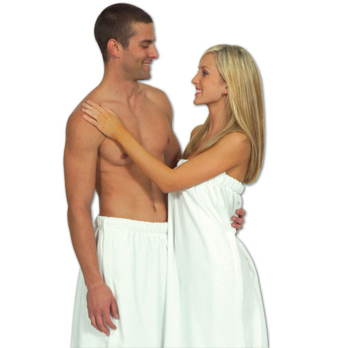 Picture of Ladies' Terry Velour Bath Wrap, Custom Embroidered Ladies' Velour Bath Wrap