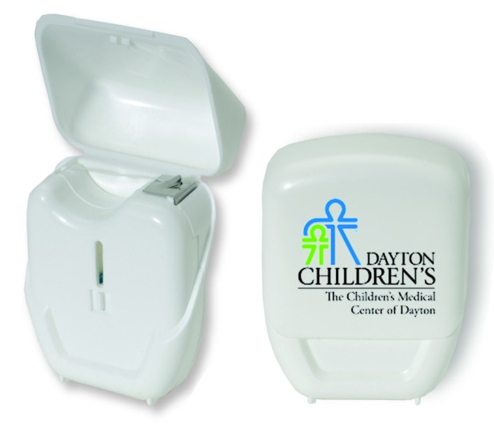 Picture of 18 Yard Dental Floss Compact Dispenser, Promotional Logo Dental Floss Compact Dispenser