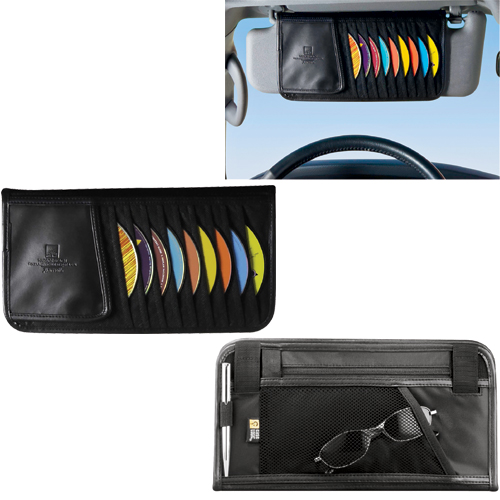Picture of Case Logic 10 Capacity CD Visor Organizer, Promotional Logo Ten Capacity CD Visor Organizer