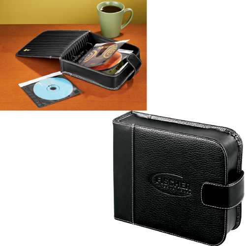 Picture of Case Logic Pro DVD/CD Leather Desk Organizer, Promotional Logo DVD/CD Desk Organize