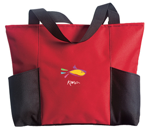 Picture of Double Pocket Zippered Tote, Promotional Logo Double Pocket Zippered Tote