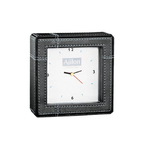 Picture of Crossroads Desk Clock, Promotional Logo Desk Clock