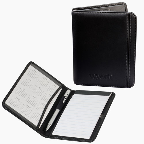 Picture of Millennium Leather Prescription Jotter, Promotional Logo Leather Prescription Jotter