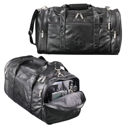 "Picture of Millennium Leather 20"" Duffel, Promotional Logo Millennium Leather 20"" Duffel"