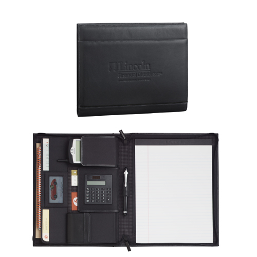 Picture of Palazzo Leather Zippered Padfolio