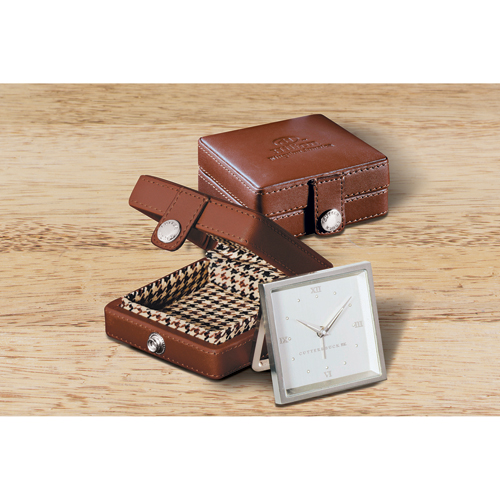 Picture of Cutter & Buck Travel Alarm Clock, Promotional Logo Travel Alarm Clock