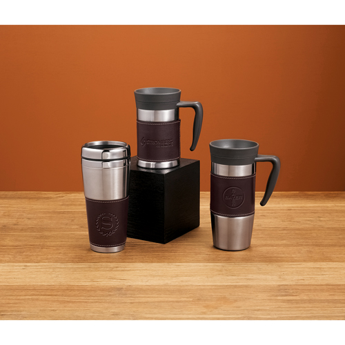 Picture of Cutter & Buck American Classic Leather Tumbler, Promotional Logo Leather Tumblers