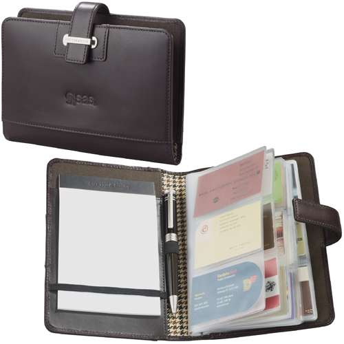 Picture of Cutter & Buck American Classic Business Card Organizer, Promotional Logo Business Card Organizer