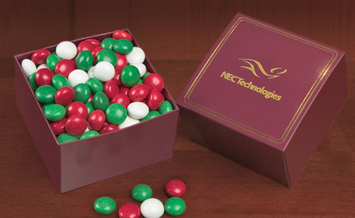 Delicious Chocolate Gourmet Mints, Promotional Logo Delicious Chocolate Gourmet Mints
