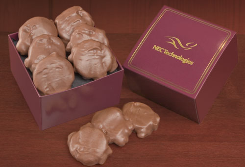 Picture of Delicious Gourmet Pecan Turtles Gift Box, Promotional Logo Delicious Gourmet Pecan Turtles