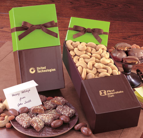 Lime Divine with Jumbo Cashews Gift Box, Promotional Logo Lime Divine Jumbo Cashews
