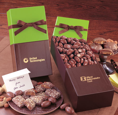 Picture of Lime Divine with Chocolate Covered Almonds, Promotional Logo Lime Divine Chocolate Almonds
