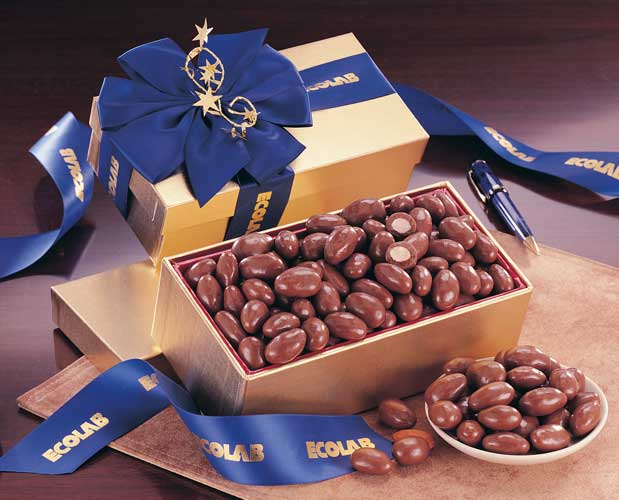 Picture of Gourmet Chocolate Covered Almonds, Promotional Logo Chocolate Gourmet Covered Almonds