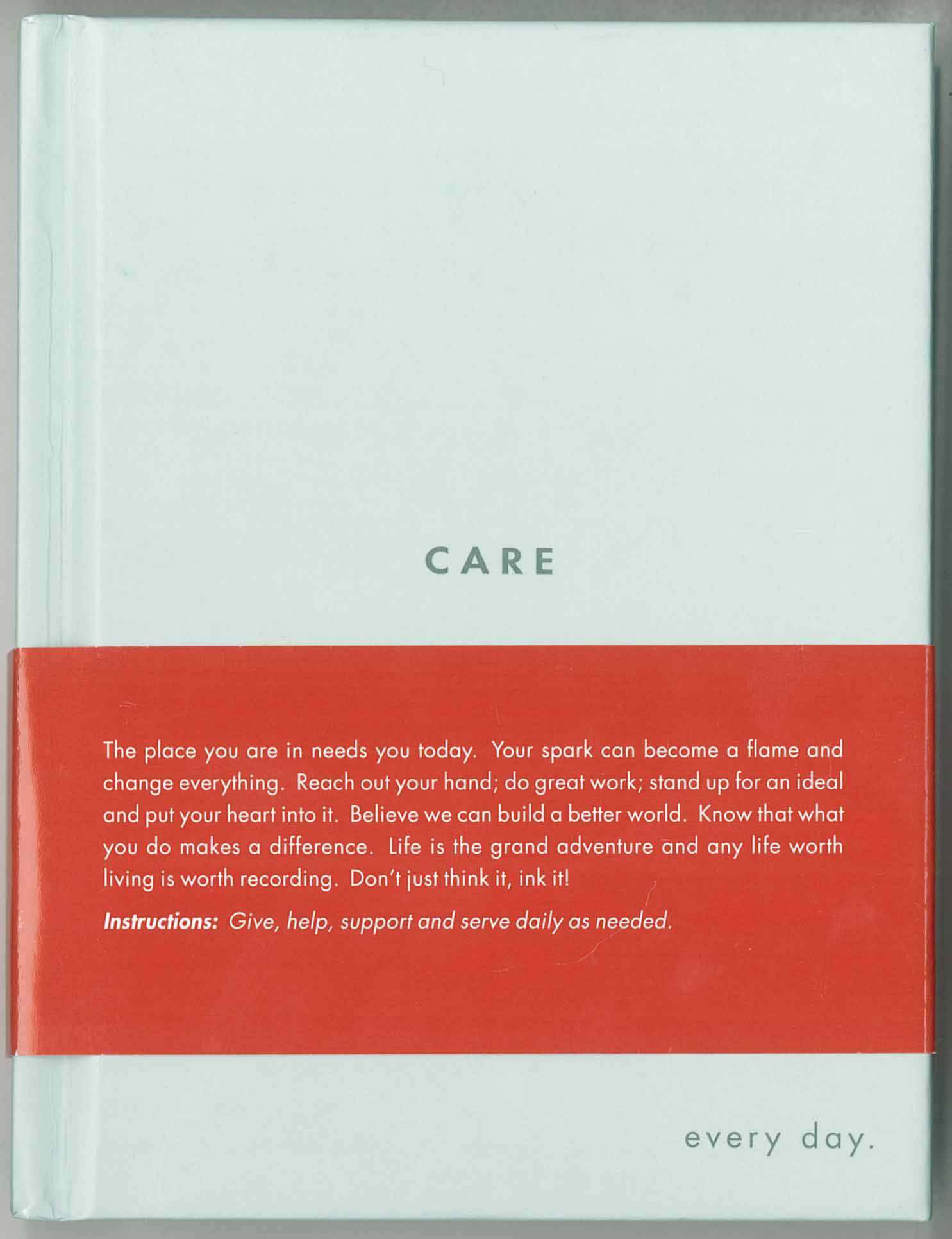 Picture of Gift Book: Quotation / Blank Journals: CARE