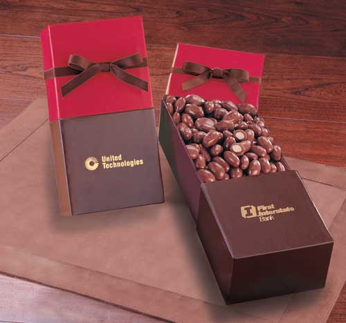 Picture of Milk Chocolate Covered Almonds, Promotional Logo Milk Chocolate Covered Almonds