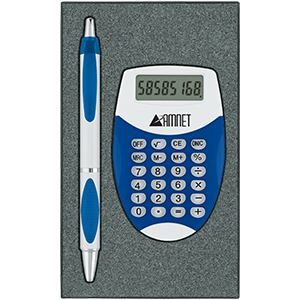 Picture of Translucent Color Calculator/Pen Gift Set