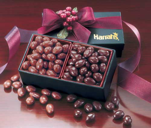 Picture of Dark & Milk Chocolate Almonds Gift Box