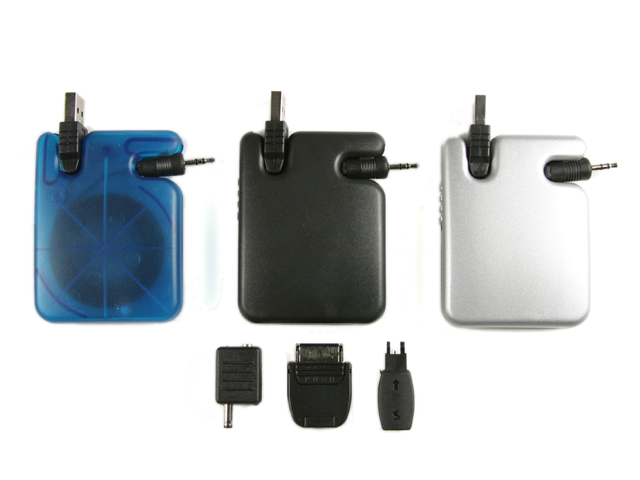 Picture of USB Cell Phone Charger with Universal Adapters, Promotional Logo Cell Phone Chargers