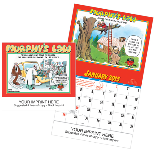 Picture of Murphy's Law Calendar, Promotional Logo Murphy's Law Calendar