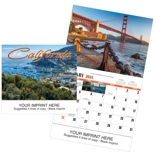 Picture of California Calendar, Promotional Logo California Calendars
